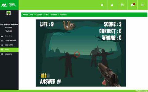Kurs angielskiego - zombie game